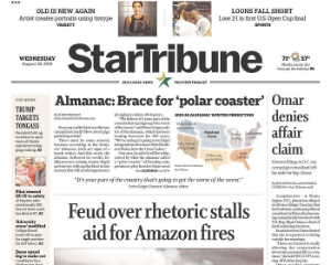 Delivery and billing of your subscription will automatically continue at the end of this term. You will be responsible for any monies owed for service beyond the end of this term unless you call Star Tribune at before your expiration date to stop.